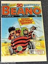 The BEANO  50th Birthday POSTCARD   new