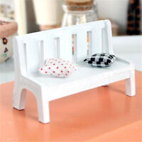 1:12 Dollhouse Miniature Furniture Wooden Bench Chair Fairy Bonsai Landscape ♫