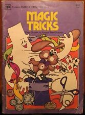 Vintage Magic Tricks, Golden Family Funtime Book 1975, How To Magician Free Ship