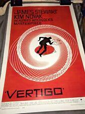 Vertigo Movie Poster 1958 24x36 Alfred Hitchcock Thriller Classic .