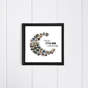 Personalised Mothers Fathers Day Birthday I love you to the Moon and Back