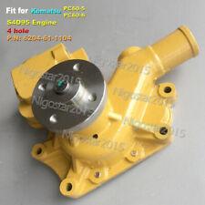 Water Pump for Komatsu Excavator S4D95 Engne 6204-61-1104 PC60-5 PC60-6 4-hole