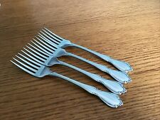 "Oneida Chateau Dinner Forks Set Of 4 Oneidacraft Deluxe Stainless 7 1/4"" P124"