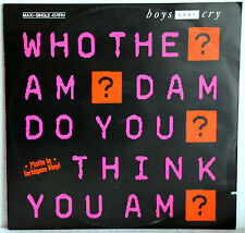 "12"" Maxi-Vinyl - BOYS DONT CRY - Who the am dam do you think you am?"