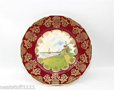 ROSENTHAL IVORY OLD DUCH SCENIC WALL CABINET PLATE MUSEUM QUALITY PERFECT 1930