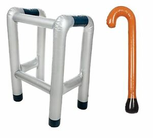 Inflatable Walking Frame and Walking Stick Great for Hen/Stag Parties