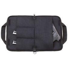 """Pistol Rug Black Soft Padded 12"""" Hand Gun Case Storage Zippered Pouch 4 Pockets"""