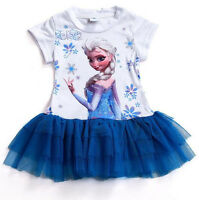 Girl frozen dress elsa TUTU lace party kids clothes baby girls dresses summer