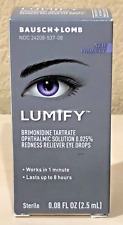 Lumify Redness Reliever Eye Drops 0.08 oz (2.5ml) BRAND NEW>FREE SHIPPING!