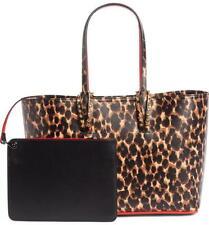 Christian Louboutin Small Cabata Leopard Print Black Leather Tote