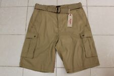 LEVI'S MENS SNAP CARGO SHORT WITH BELT HARVEST GOLD COLOR SIZE 36 ZIP FLY NWT
