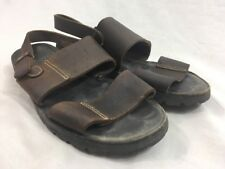 483c8e08d53 LL Bean Brown Leather Sandals Shoes Mens 12 M Ankle Strap Buckle