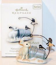 2007 Nature'S Sketchbook New Hallmark Marjolein Bastin Ornament Rabbit Chickadee