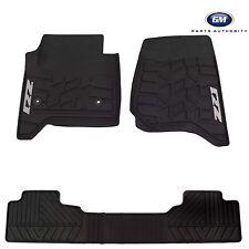 14-17 Chevrolet Silverado Premium All Weather Front & Rear Floor Mats Black OEM