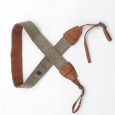 Vintage White and Brown Weave Camera Shoulder Neck Strap Belt For Canon DSLR