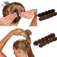 NEW Sponge Hair Styling Donut Bun Maker Magic Former Ring Shaper Styler Tool 2Pc