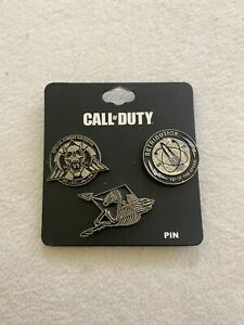 Call Of Duty Activision Bioworld - Set Of 3 Pins - BRAND NEW XBOX PLAYSTATION