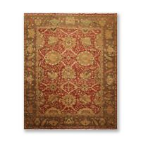 "7'11"" x 10' Hand Knotted Wool Turkish Oushak Oriental Area Rug Traditional Rust"
