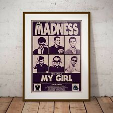 More details for madness - early tour date poster framed or three print options new exclusive