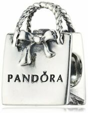 BRAND NEW STERLING SILVER PANDORA 'GIFT BAG' CHARM BEAD - 791184 - FREE POUCH