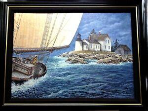 "Signed Limited Edition Nautical Giclée Canvas ""Seawinds Beckon"" by Ben Richmonds"