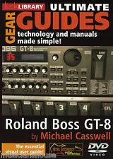 LICK LIBRARY Ultimate Gear Guides Roland Boss GT-8 Learn to GUIDE Guitar DVD