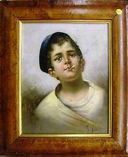Piccolo ritratto di un italiano CONTADINO BOY OLIO Frederico vitali 1st metà 20thC