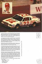 Legendary Bobby Allison Post Card #22 Miller Buick