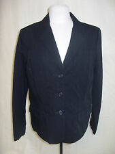 Ladies Suit Jacket - Isaac Mizrahi, size L, black, cotton, casual/work - 1448