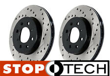 BMW E46 M3 Stoptech Two Piece Drilled Rotors (Drilled Front Pair) ZCP/CSL Only
