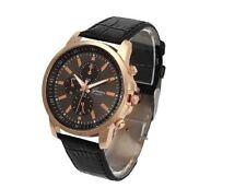 New Fashion Unisex Men Women Casual Faux Leather Quartz Analog Wrist Watch