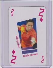 RARE 2012 LONDON UK OLYMPIC WANG NAN CARD ~ CHINA ~ TABLE TENNIS ~ PING PONG