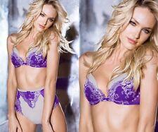 32C,32D or 34C  Victoria's Secret Very Sexy Purple Lace 3 Piece Bra Set