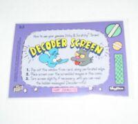 1994 Skybox Simpsons Decoder Screen Itchy & Scratchy Promo Card #B3 BONGO COMICS