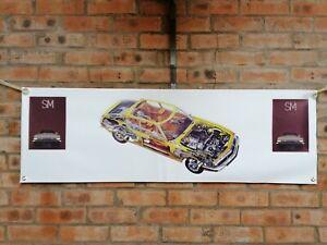 Citroen sm large pvc  WORK SHOP BANNER garage  SHOW banner
