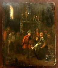 Antique painting early 18th century on oak panel