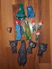 Disney Princess Magic Clip Merida Doll Brave Brothers Bear Costumes Polly Pocket
