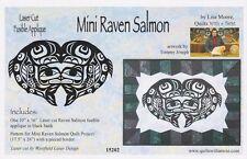 Mini Raven Salmon Laser Cut Fusible Appliqué, Lisa Moore, Diy