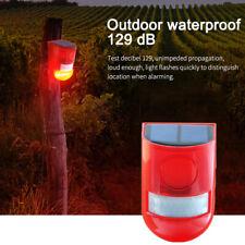 Solar Powered PIR Motion Sensor Alarm Infrared Wireless Solar Warning Light