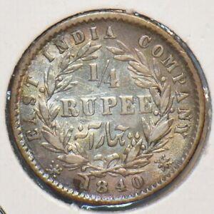 India British 1840 1/4 Rupee 295771 combine