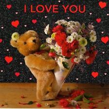 I Love You Cute Teddy Bear Valentine's Day Card  Greetings Cards
