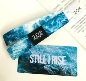 ZOX **STILL I RISE** Silver DOUBLE Single med NIP Wristband w/Card