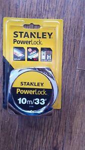 Stanley PowerLock 10 Metre Retractable Tape Measure - in original unopened pack