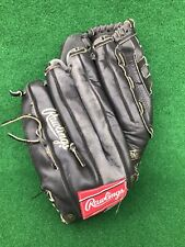 "Rawlings 14"" Supersize Black Softball Baseball Glove RHT - Model RSGXLB"