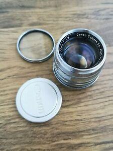 Canon 50mm f/1.8 VINTAGE Rangefinder Lens in Leica L-39 screw mount read descrip