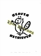 VINYL DECAL STICKER BEAVER RETRIEVER...FUNNY...CAR TRUCK WINDOW