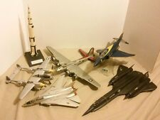 6 Vtg AIRPLANE Apollo PLANE Jet BOMBER Phantom F-4J USA Built Model Kit Lot