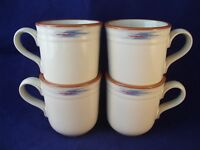 Noritake Stoneware Raindance 8675 Set of (4) Large Coffee Mugs Japan Santa Fe