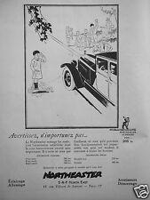 PUBLICITÉ 1927 NORTHEASTER L'AVERTISSEUR POUR AUTO MOTO CANOT - ADVERTISING