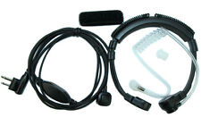 Flexible Throat Mic Headset Earpiece with Finger PTT for Motorola Radio 2-pin